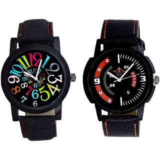 Special 3D Look And Black Dial Multi Colour Digit SCK Analogue Combo Watch