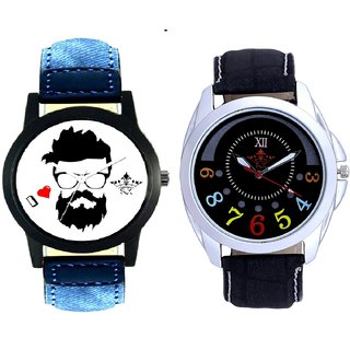 I Love Rock Handsome And Black Dial Colour Digits SCK Men's Combo Wrist Watch