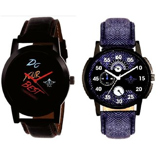 Latest Blue Round Dial  And Do Your Best Multi Colour SCK Men's Combo Wrist Watch
