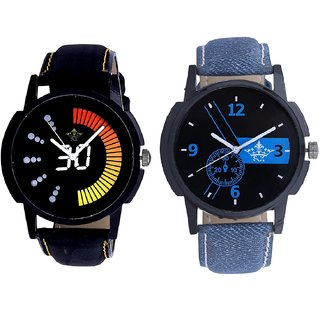 Awesome Blue Dial And Race Speed SCK Men's Combo Wrist Watch