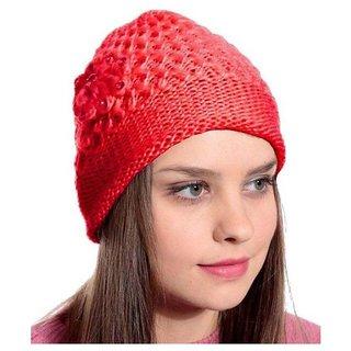 e044c44f9ec Buy Tahiro Red Woollen Cap - Pack Of 1 Online - Get 18% Off