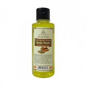 Khadi Pure Herbal Sandal  Turmeric Body Wash - 210ml