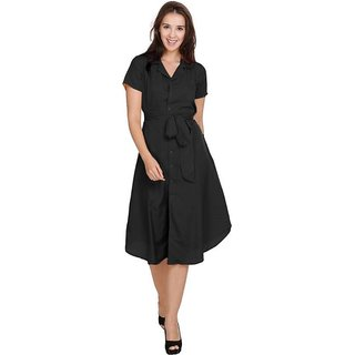 SHT Women Shirt Black Dress