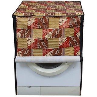 Abstract Beige Waterproof & Dustproof Washing Machine Cover For Front Load Ifb Senator Aqua Sx - 8 Kg Washing Machine