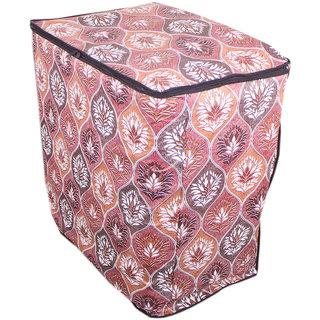 Glassiano floral brown washing machine cover for semi automatic machine for Videocon Ocean Plus 7.2 Kg  Washing Machine