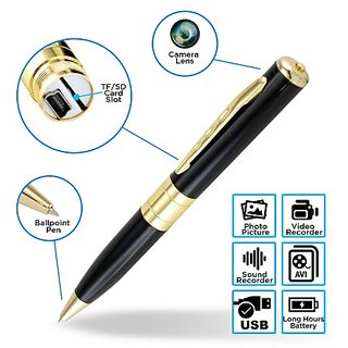 Spy Pen Hidden Camera with HD Quality Audio/Video Recording, 16GB card support