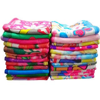 z decor cotton 20 pcs beautiful printed face towels