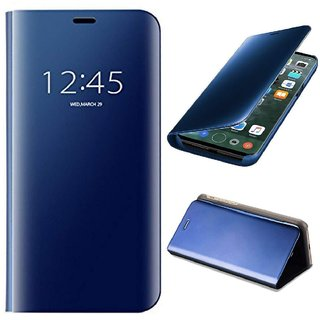 los angeles 9bfdb 71405 BM Mirror Flip with Luxury Stand Cover Case for Vivo V9 (Blue)