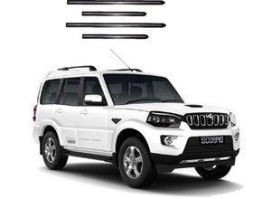 Trigcars Mahindra Scorpio New Car Side Beading Black With Chrome Line + Free Gift Bluetooth 250/