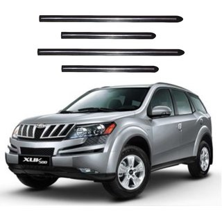 Trigcars Mahindra XUV 500 Car Side Beading Black With Chrome Line + Free Gift Bluetooth 250/