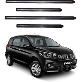 Trigcars Maruti Suzuki Ertiga 2018 Car Side Beading Black With Chrome Line + Free Gift Bluetooth 250/