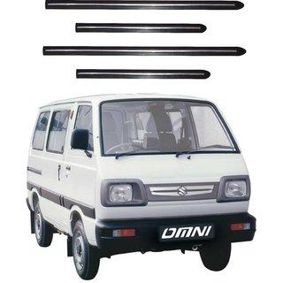 Trigcars Maruti Suzuki Omni Car Side Beading Black With Chrome Line + Free Gift Bluetooth 250/