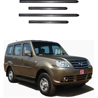 Trigcars Tata Sumo Grande Car Side Beading Black With Chrome Line + Free Gift Bluetooth 250/