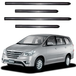 Trigcars Toyota Innova New Car Side Beading Black With Chrome Line + Free Gift Bluetooth 250/