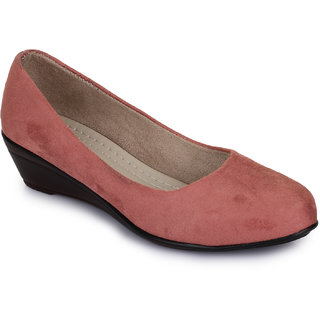 Picktoes Pink Wedges Heels
