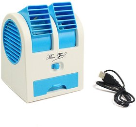 Finbar Desktop Dual Blade less Portable Adjustable Angles Scented Air Conditioning Air Cooler USB Electric Mini Fan