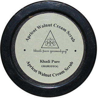Khadi Pure Herbal Apricot  Walnut Cream Scrub with Sheabutter - 50g