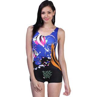 Multi Colored Modern Print Adorable One Piece Swim-Suit