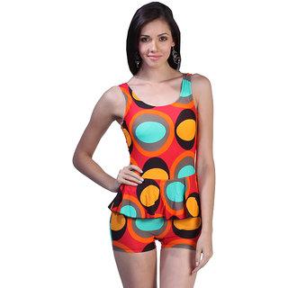 Spherical Designed Bright Multi Colors One Piece Swim Suit