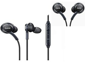 Huawei Honor 7X Compatible Plastic Wired Earphone with Mic (Black)