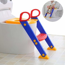 House of Quirk Kid's Potty Toilet Seat with Step Stool ladder 3 in 1 Trainer for Toddlers with Handles, (POTTYLADDERTO