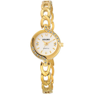 ADAMO Enchant Analogue White Dial Womens Watch  2370Ym01