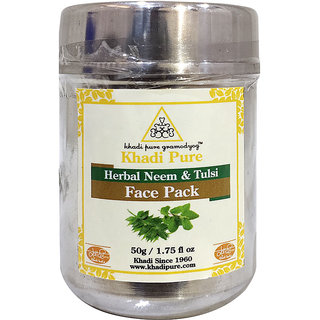 Khadi Pure Herbal Neem  Tulsi Face Pack - 50g