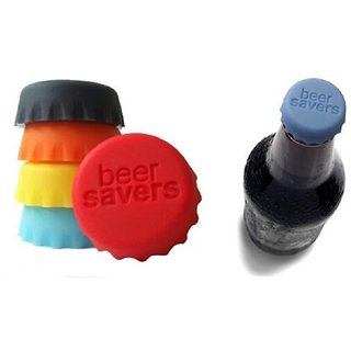 EREIN Pack of 6 Silicone Lid Beer Saver Bottle Cap Stopper Reusable Silicone Beer Saver Bottle Cap Leak Free Multicolore
