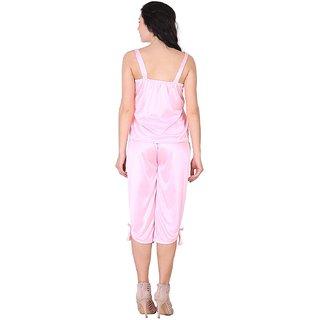 dd756e1508 Buy Shararat Satin Nighty Night Gowns -Baby Pink Online - Get 42% Off