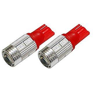2 x T10 10 LED Light Bead SMD LED Car Interior Light Bulb ( RED )