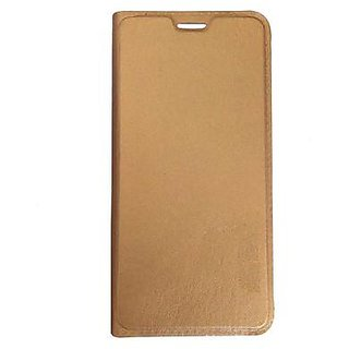 FLIP COVER FOR  Lava A68   - GOLD