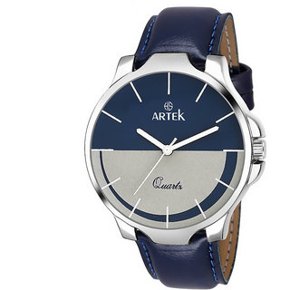 Artek Analog Quartz Multicolor Round Dial Blue Leather Strap Men's Watch