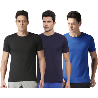 Concepts Multicolor Polyester Dri Fit Tshirts Pack Of 15