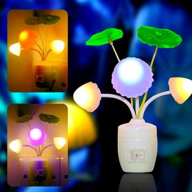 Mushroom Plastic Night Lamp Color Changing (Multicolor)  Electric LED No of Pieces 1