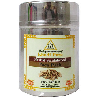 Khadi Pure Herbal Sandalwood Face Pack - 50g