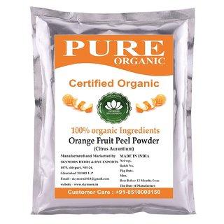 SkyMorn Pure Organic Orange Peel Powder For Glowing Face Pack 100 Grams