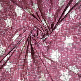 AMAYA FABRICS WOMEN'S PINK COTTON BRUSH PRINT UNSTITCHED  2.50 METER AFJP918769