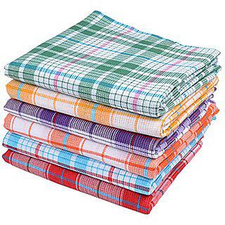 Home Cotton 1 Handloom Bathroom Linen Large Multicolor