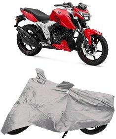 De AutoCare Premium Quality Silver Matty Two Wheeler Bike Body Cover for TVS Apache RTR 160 4V
