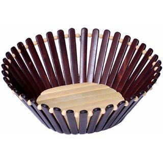 Deals e Unique Traditional Wooden Basket for Anniversary/Birthdays/Wedding Gifts, Dry Fruit Basket, Confectionery Basket