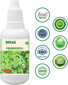 Sovam Chlorophyll Drops For All - Chlorophyll Liquid - Herbal Chlorophyll Juice For Men And Women
