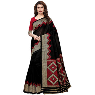 02605618194ce8 Buy Swaron Black Kashmiri Silk Geometric Printed Saree with Unstitched  Blouse Online - Get 62% Off