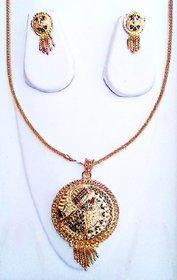 Necklace Set with Earring for bridal jewellery Antique Finish necklace Set.