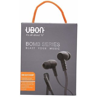 Ubon Prime GM-02A Bomb Series in-Ear Earphone with Mic, , Noise Isolating Headphone Black Colour
