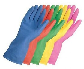 3 Pair Household Washing Cleaning Kitchen Hand Rubber Gloves for All Cleaning