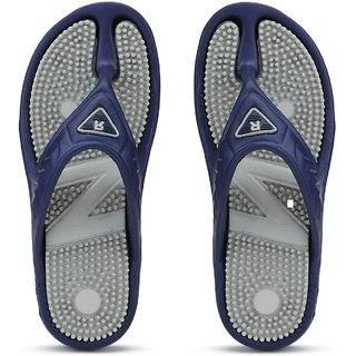 Clymb Men's Blue & Gray Flip Flops