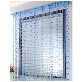 z decor polyester beautiful curtain set of 1(sky heart)
