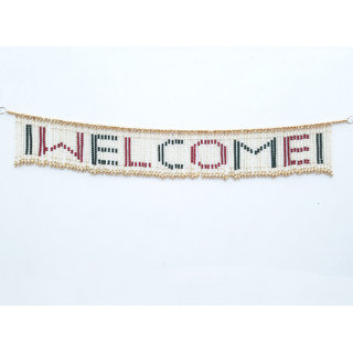 LOF Decorative Welcome Door Hanging Toran Handcrafted With Colorful Beads for Home Diwali Home Decoration Set of 2