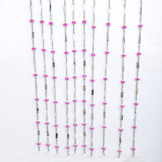 LOF Decorative Door Hanging Shisha Ladi Toran Handcrafted With Colorful Beads for Diwali Home Decoration 10 pcs Ladi