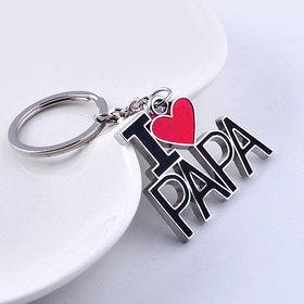 IM I Love Papa Stainless Steel Metal Key Chain  Key Ring